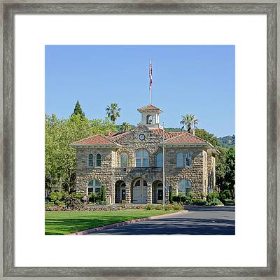 Sonoma City Hall Framed Print by Jenny Hudson