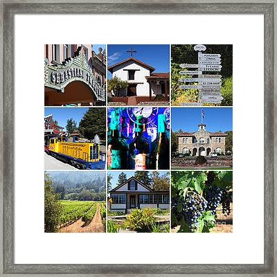 Sonoma County Wine Country 20140906 Framed Print by Wingsdomain Art and Photography