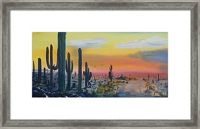 Sonora Alive Framed Print by J FLoRian Dunn