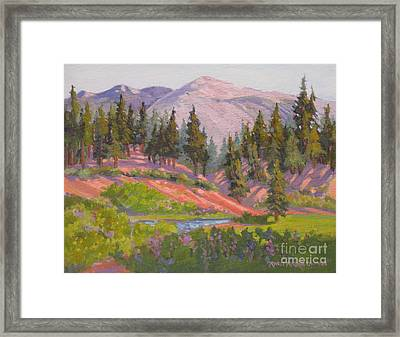 Sonora Pass Meadow Framed Print by Rhett Regina Owings