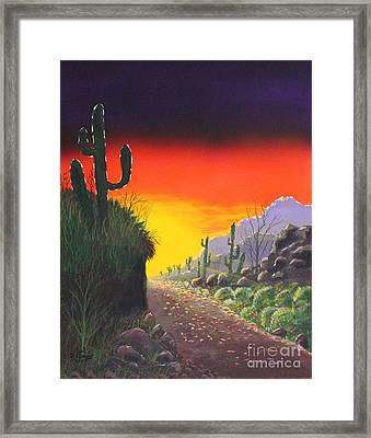 Sonoran Sunrise Framed Print