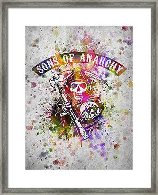 Sons Of Anarchy In Color Framed Print by Aged Pixel