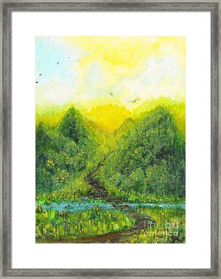 Framed Print featuring the painting Sonsoshone by Holly Carmichael