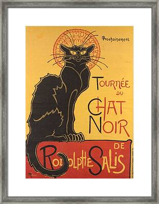 Soon The Black Cat Tour By Rodolphe Salis  Framed Print