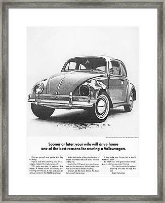 Sooner Or Later Your Wife Will Drive Home.............. Framed Print