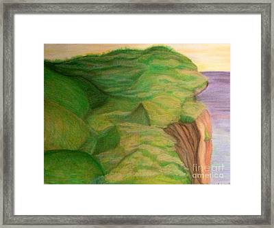 Soothing Seaside Framed Print by Michelle Bentham