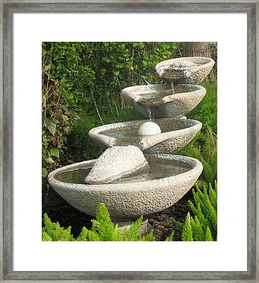 Framed Print featuring the photograph Soothing Sounds Water Fountains by Ella Kaye Dickey