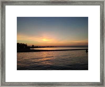 Soothing Sunset Framed Print by Anastasia Konn