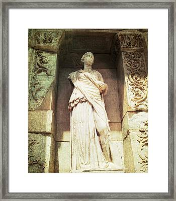 Sophia Goddess Of Wisdom  Framed Print by Cimorene Photography