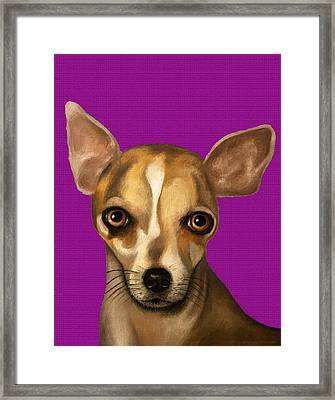 Sophia In Purple Framed Print by Leah Saulnier The Painting Maniac