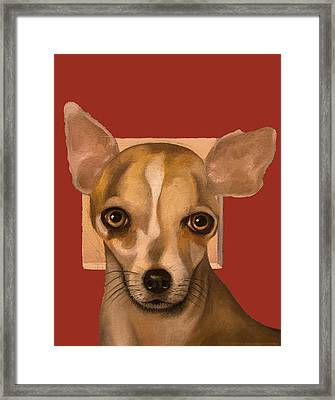 Sophia In Red Framed Print by Leah Saulnier The Painting Maniac