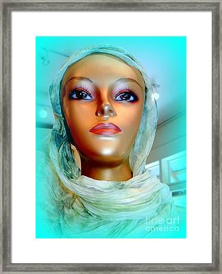 Sophia In Scarf Framed Print by Ed Weidman
