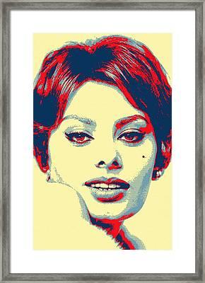 Sophia Loren Framed Print by Art Cinema Gallery