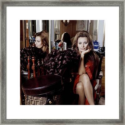 Sophia Loren Framed Print by Henry Clarke