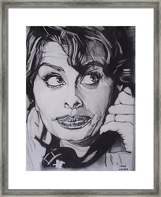 Sophia Loren Telephones Framed Print by Sean Connolly