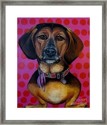 Sophia - My Rescue Dog  Framed Print