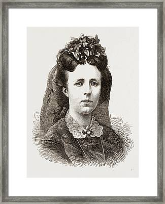 Sophia, Queen Of Sweden And Norway Framed Print by Litz Collection