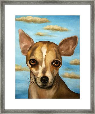 Sophia With Sky Framed Print by Leah Saulnier The Painting Maniac
