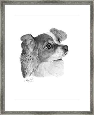 Framed Print featuring the drawing Sophie - 013 by Abbey Noelle