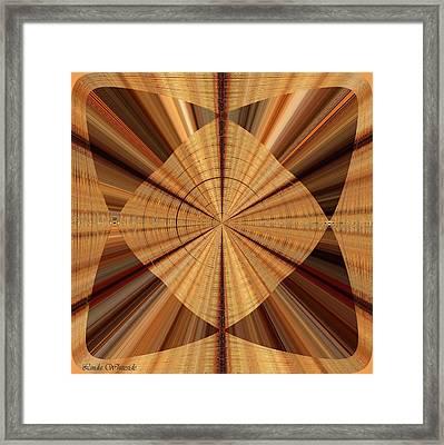Framed Print featuring the digital art Sophisticated Burlap Dark by Linda Whiteside