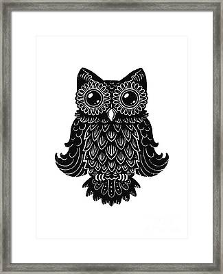 Sophisticated Owls 2 Of 4 Framed Print by Kyle Wood