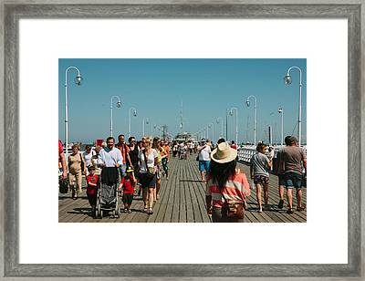 Sopot Pier Framed Print by Pati Photography