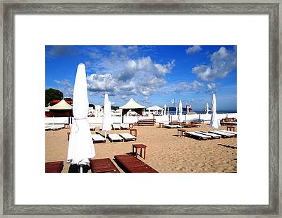 Sopot Resort On The Baltic Framed Print by Jacqueline M Lewis