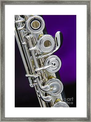 Soprano Flute Music Instruments Photo In Color  3441.02 Framed Print by M K  Miller