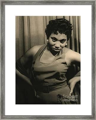 Soprano Leontyne Price 1953 Framed Print
