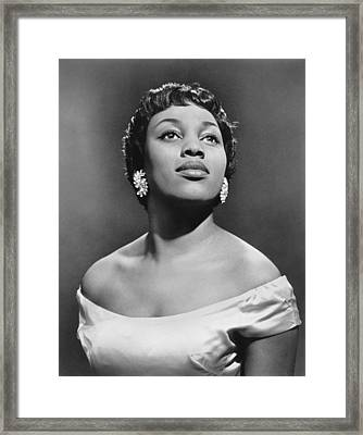 Soprano Leontyne Price Framed Print by Underwood Archives