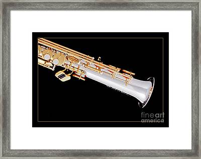 Soprano Saxophone Bell Photograph In Color 3343.02 Framed Print