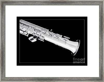 Soprano Saxophone Bell Photograph In Sepia 3343.01 Framed Print