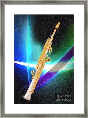 Soprano Saxophone Music Painting In Color 3339.02 Framed Print