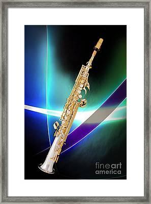 Soprano Saxophone Music Photograph In Color 3338.02 Framed Print