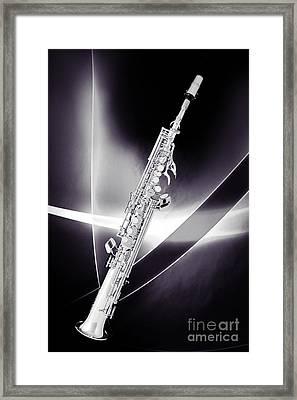 Soprano Saxophone Music Photograph In Sepia 3338.01 Framed Print
