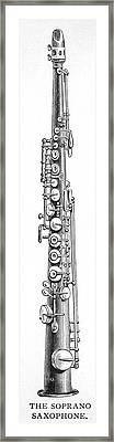 Soprano Saxophone  One Of A  Family Framed Print