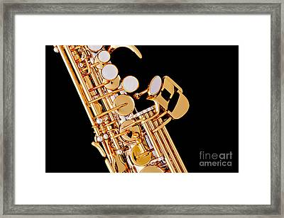 Soprano Saxophone Photograph Picture Color 3354.01 Framed Print