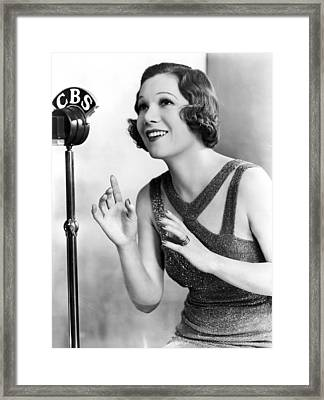 Soprano Vivienne Segal On Cbs Framed Print by Underwood Archives
