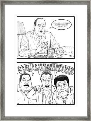Sopranos - Joking Around Framed Print by Jeff Weiner