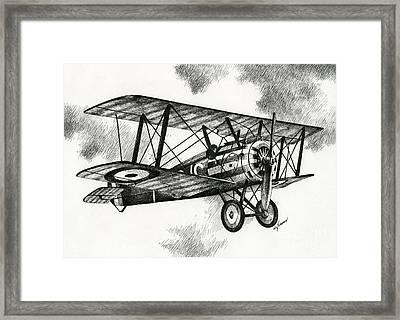 Sopwith F.1 Camel 1917 Framed Print by James Williamson
