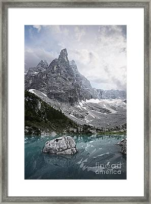 Sorapiss Lake Framed Print