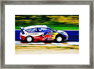 Sordo Wrc Citroen Framed Print by motography aka Phil Clark