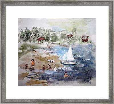 Sore Thumb Beach Framed Print by Mary Spyridon Thompson