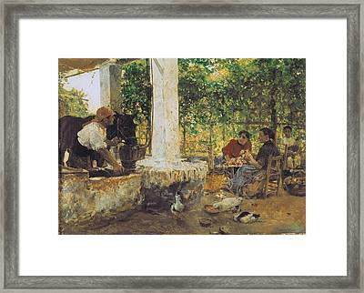 Sorolla, Joaqu�n 1863-1923. Figuras Framed Print by Everett