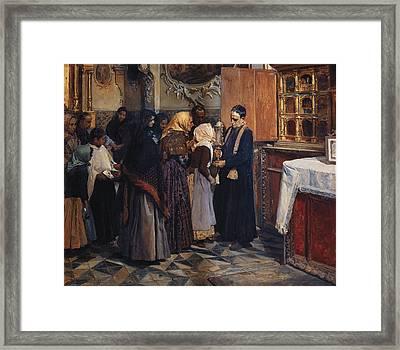 Sorolla, Joaqu�n 1863-1923. Kissing Framed Print by Everett