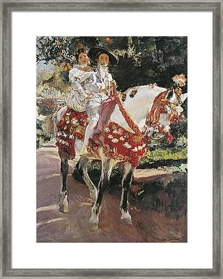 Sorolla, Joaqu�n 1863-1923. Portraits Framed Print by Everett
