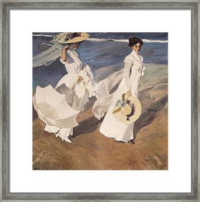 Sorolla, Joaqu�n 1863-1923. Walk Framed Print
