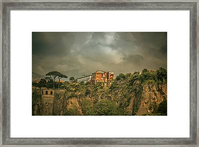 Sorrento Cliff Top Residence Framed Print by Chris Fletcher