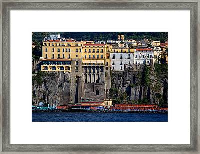 Framed Print featuring the photograph Sorrento Coast Line by Uri Baruch