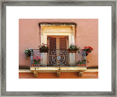 Sorrento Italy Balcony Framed Print